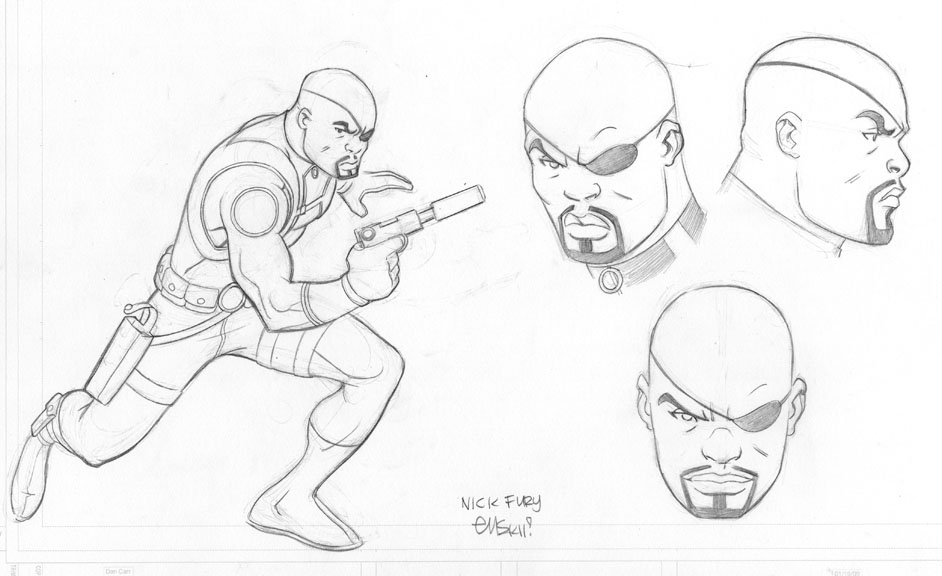 Ed McGuinness Ultimate Spider Man Animated Concept Art