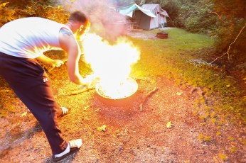 going way too crazy with the lighter fluid