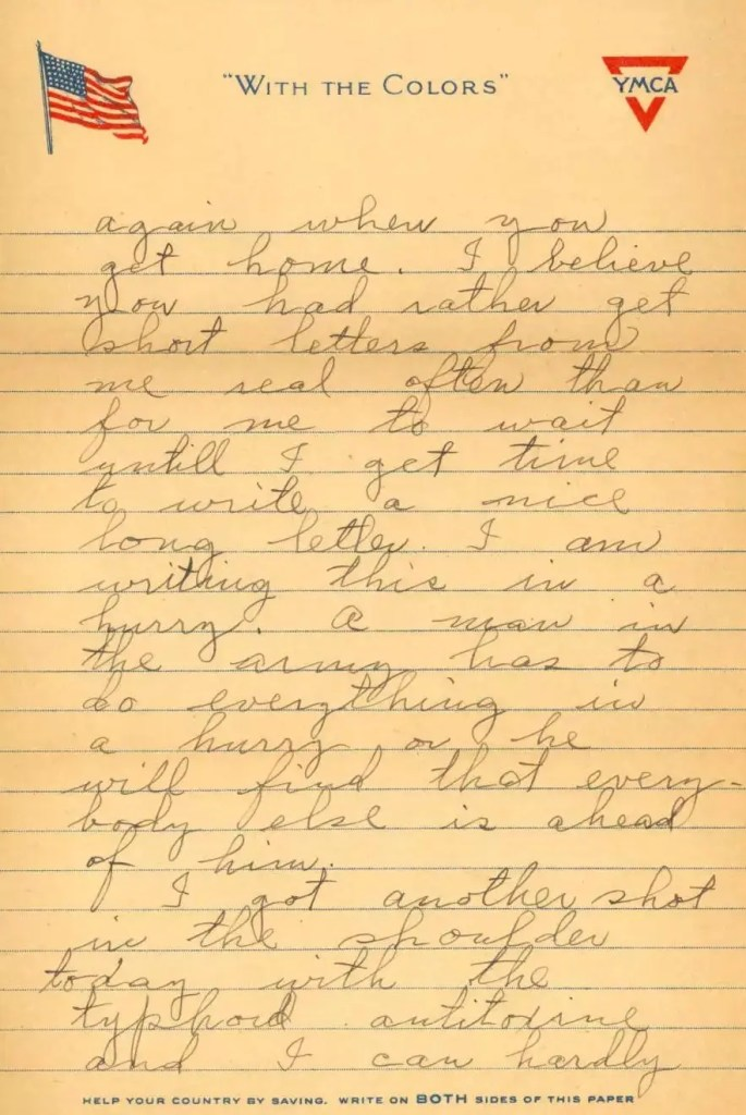 John Exum letter p2, sent to his mother 1918 from Camp Jackson SC