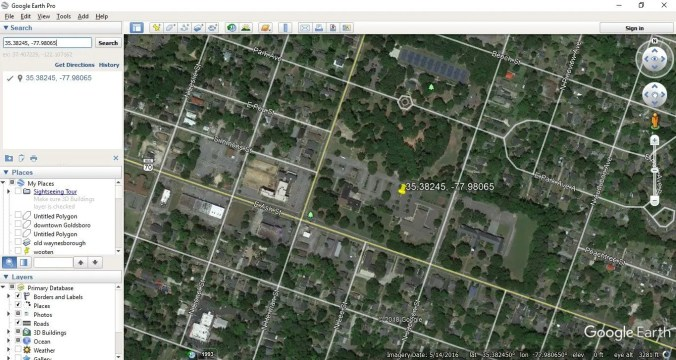 google earth - coordinate screen