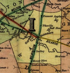 Wayne County railroad map, 1900