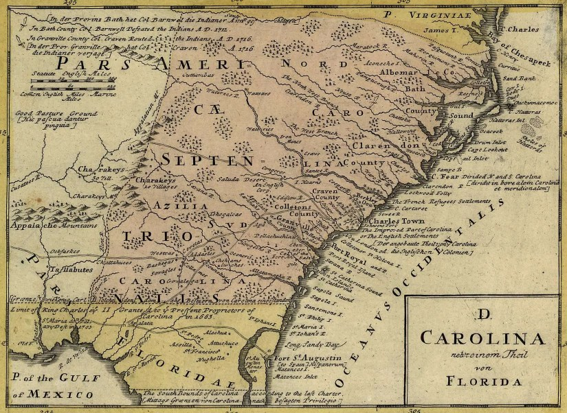 Dominia Anglorum in America Septentrionali, map, 1737