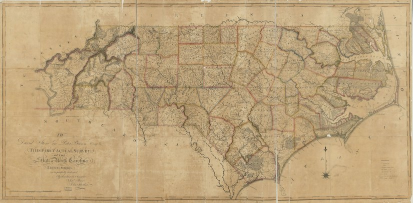 First actual survey of the state of North Carolina, 1808, by Price & Strother