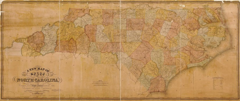 A new map of the state of North Carolina, 1833, by Robert Brazier