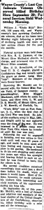 WJ Merritt obituary, Mt. Olive Tribune, October 18, 1940