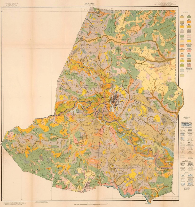 1916 Wayne County soil survey map