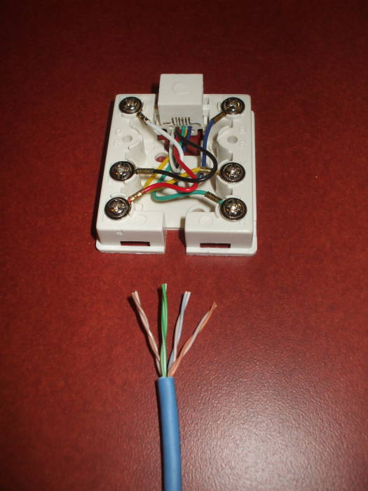 dsl ethernet wall jack wiring