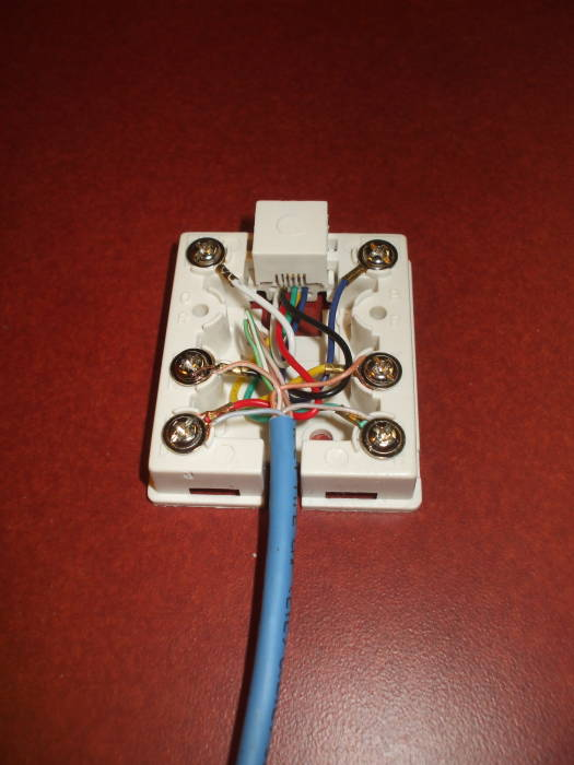 cat6 wall jack wiring diagram rv converter charger internet data how to install a dsl line for the cat 5 cable rj45