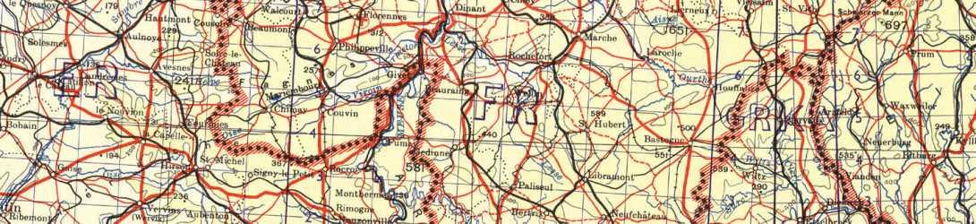 bastogne belgium map ardennes battle bulge entering