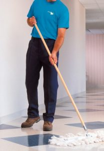 A cleaning operative