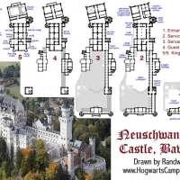 Mappa del castello di Neuschwanstein (aiuti per il gdr)