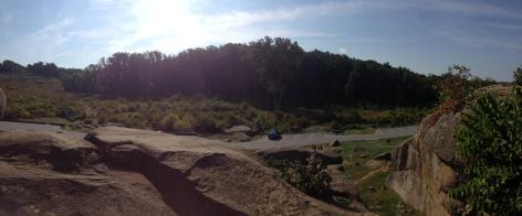 Panoramic view from the top of Devil's Den