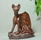 Havana Cat Gargoyle by Linda Saboe