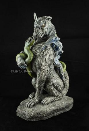 Gargoyle and Her Snake by Linda Saboe