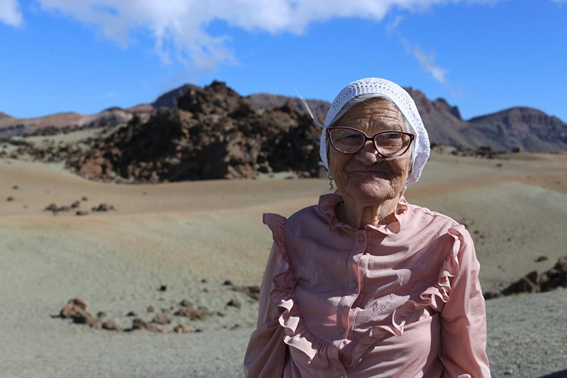Viajera de 90 años