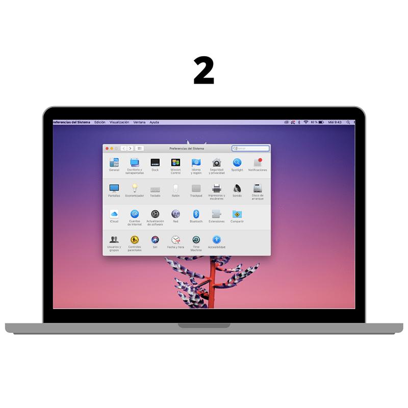 Opciones de pantalla del mac