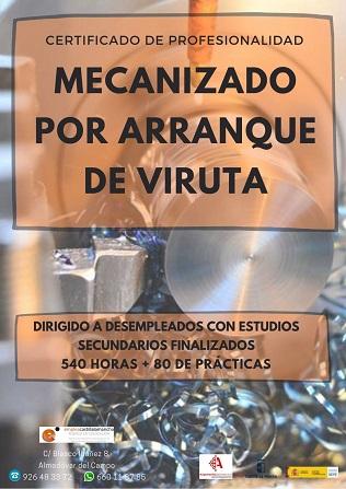 Certificado de Profesionalidad Mecanizado por arranque de viruta