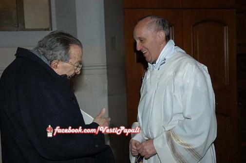 Roma 7 Marzo 2009 - Il Cardinal Jorge Mario Bergoglio con Giulio Andreotti
