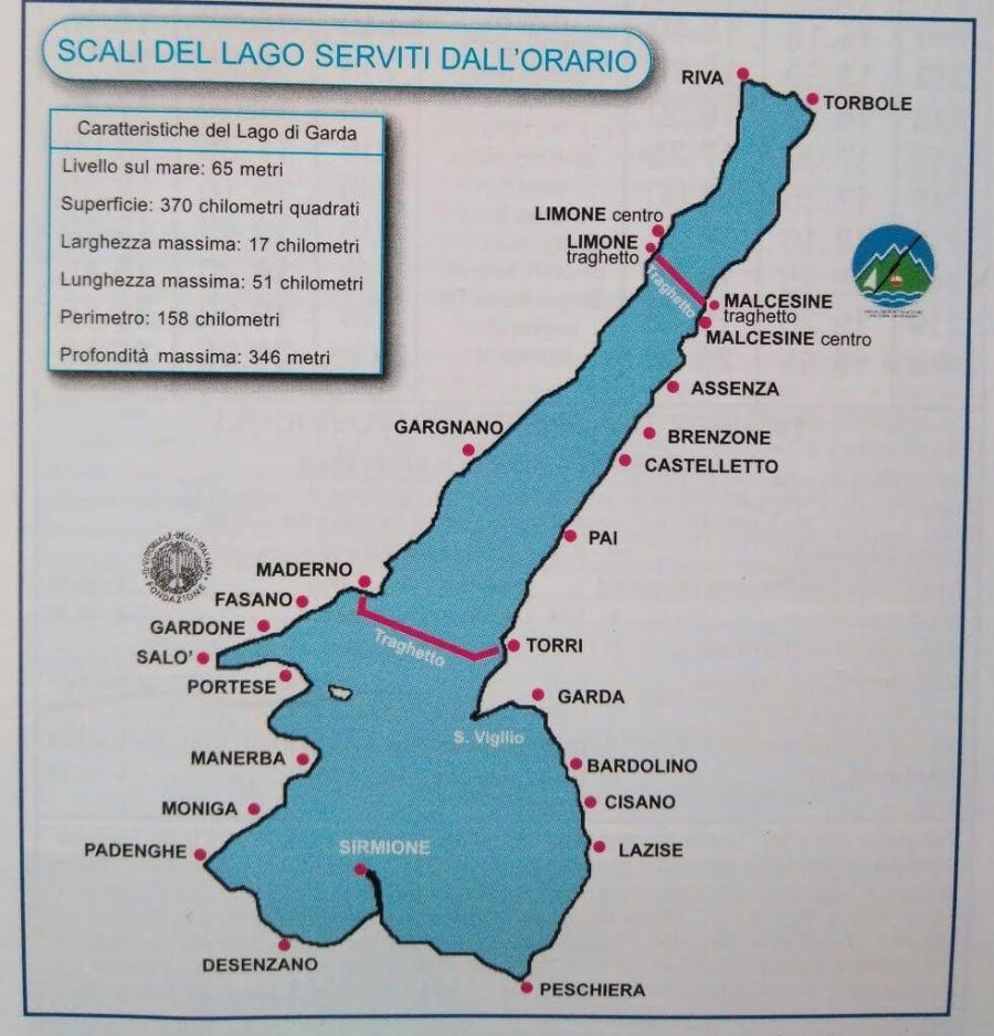 Qué ver en el Lago di Garda. Mapa