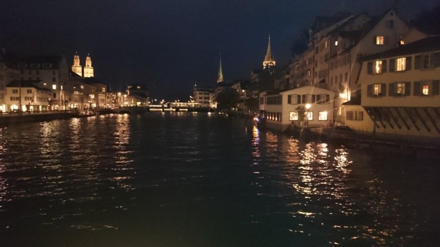 Qué ver en Zúrich. Estampa nocturna.