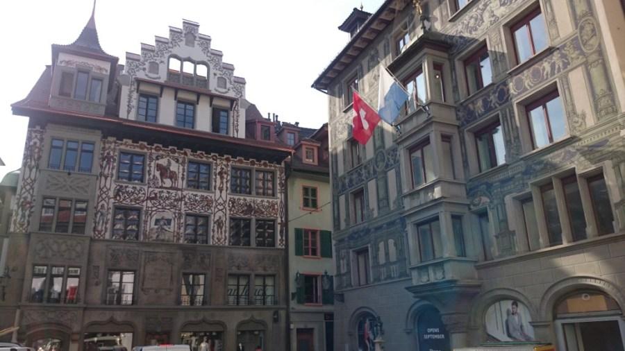 Fachadas de Lucerna. Suiza
