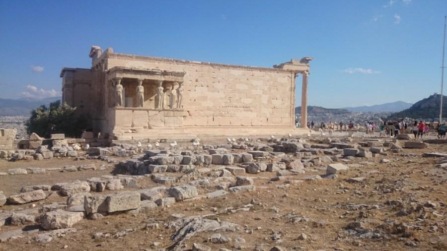 Qué ver en Atenas. Erection y Cariátides.