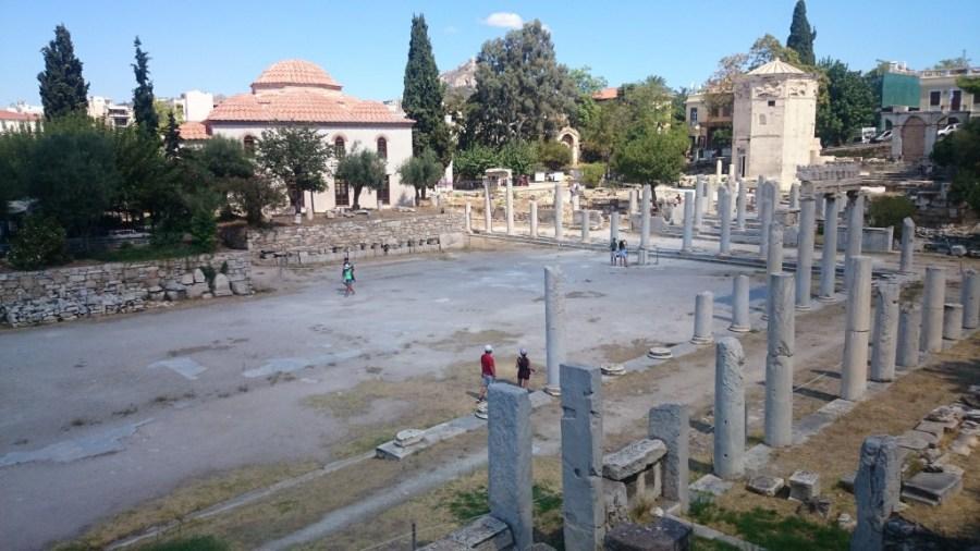 Qué ver en Atenas. Ágora Romana y Torre de los vientos.