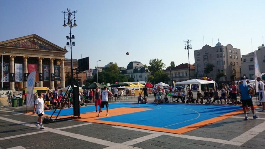 Basket en el Parque Városliget.