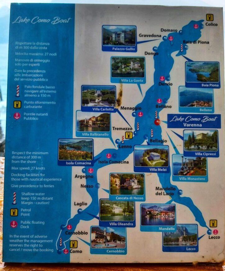 Mapa Lago di Como