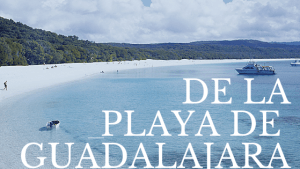 Playa de Guadalajara después de las obras.