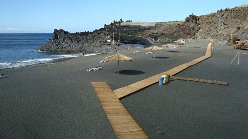 Playa el Charco Verde, una de las playas en la isla de La Palma