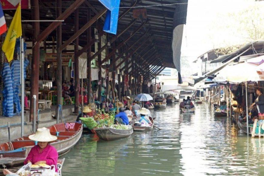 Mercado flotante Bangkok, un imprescindible que ver en bangkok