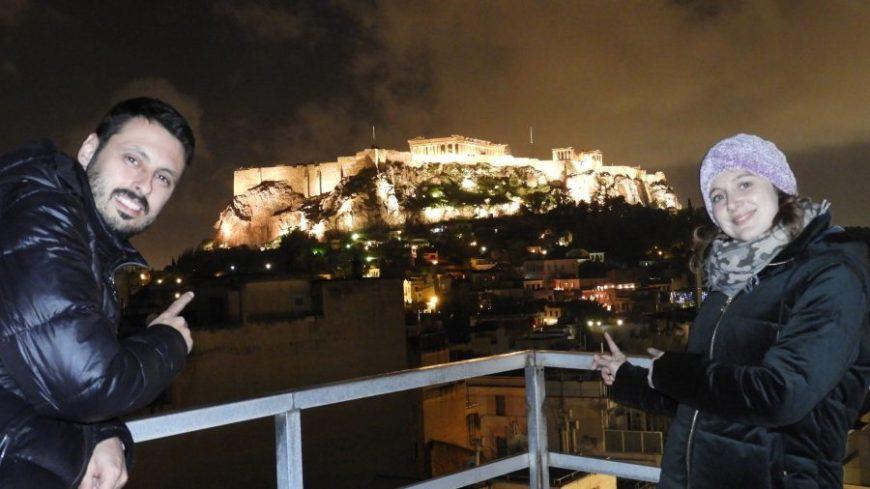 Partenon Atenas de noche