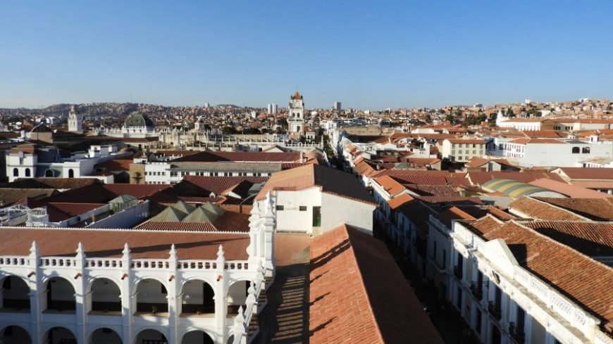 Vistas desde San Felipe Neri en mi viaje a Sucre