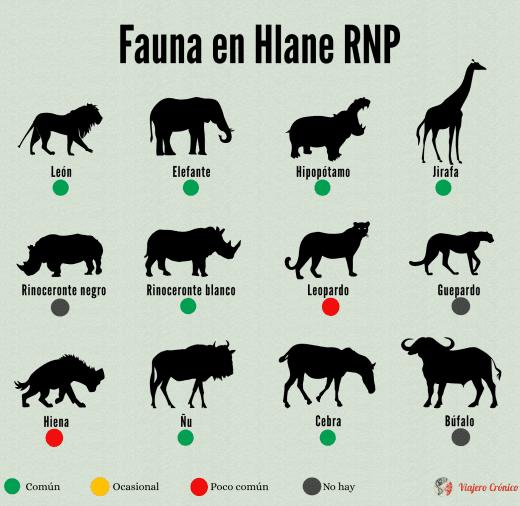 Infografía de fauna en Hlane Royal National Park