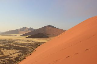 Desierto visto desde la Duna 45, visita al desierto de Namib