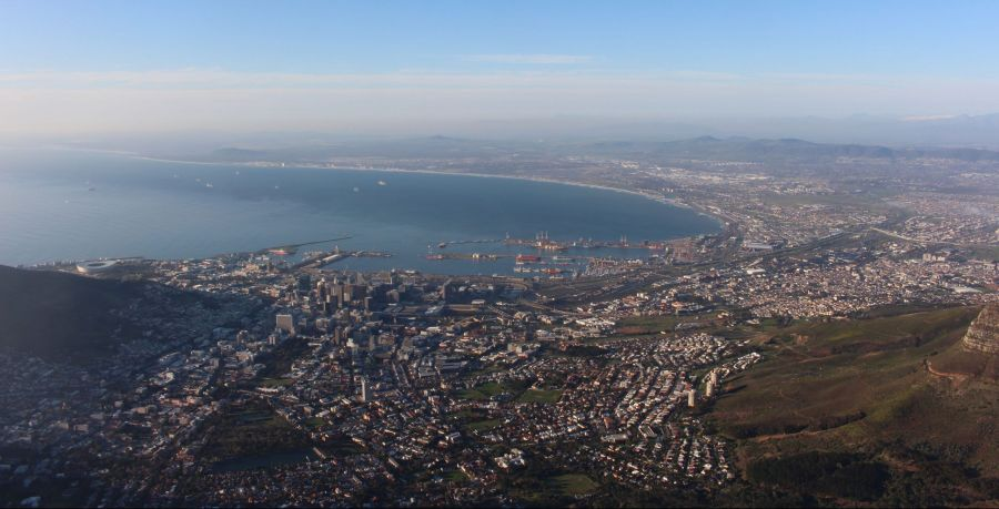vistas de ciudad del cabo desde la TAble Mountain
