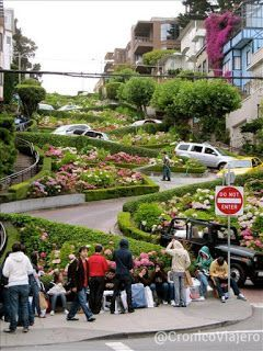 Calle Lombard Street Costa Oeste de Estados Unidos