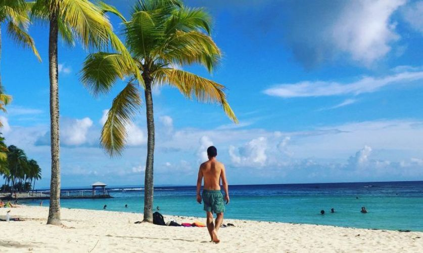 Plade de la Carevelle, una de las mejores playas de Guadalupe
