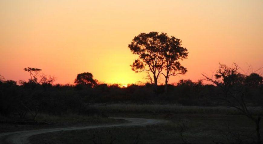 Puesta de sol Mahango Game Park