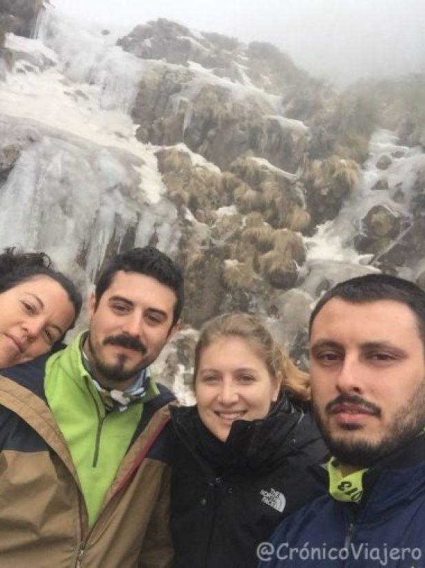 Selfie grupo cascada Lesotho