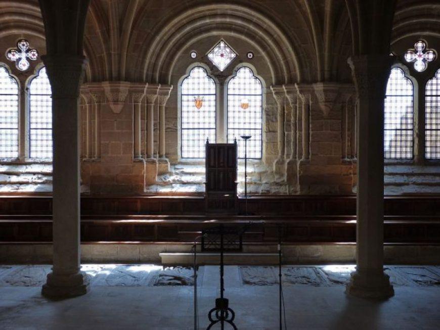 sala capitular, visita al Monasterio de Poblet