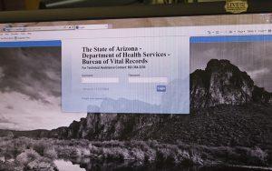 Arizona Department of Health Services website