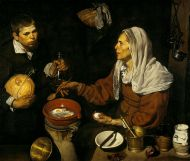 D. Velázquez (1619): Vieja friendo huevos. National Galleries of Scotland (Edimburgo)