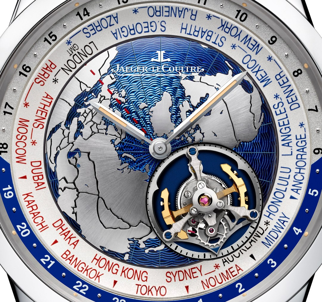Jaeger-LeCoultre Geophysic Tourbillon Universal Time_close-up dial copy