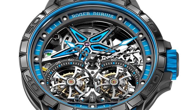Roger Dubuis: Excalibur SPIDER PIRELLI Doble Tourbillon Volante