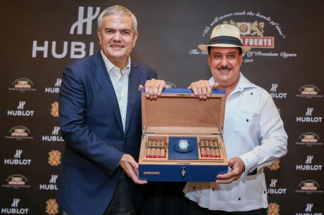 Carlito Fuente and Ricardo Guadalupe launching the Classic Fusion Fuente_2 copy