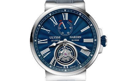 "Ulysse-Nardin ""Marine Tourbillon Blue Grand feu"""
