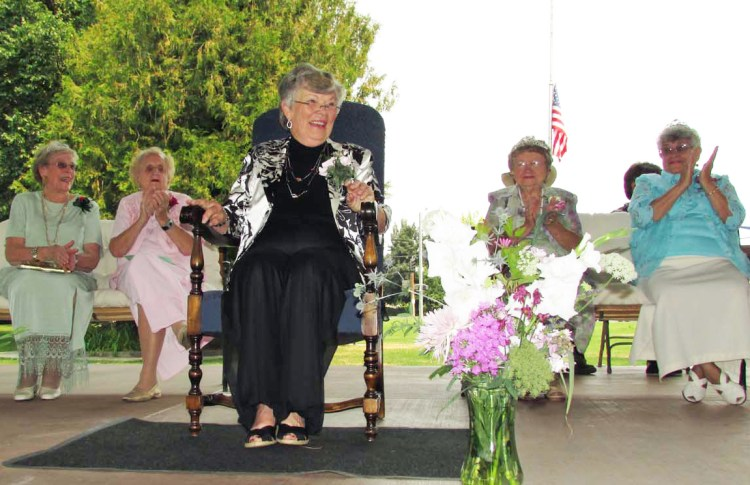 Mary (Sigman) Albert was crowned this year's Pioneer Queen on August 3, 2014