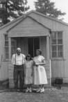 Bert, Dixie and Aloha Caverhill At Brooks-Scanlon camp near Sisters